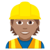 👷🏽 construction worker: medium skin tone Emoji on Joypixels Platform