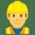 👷♂️ man construction worker Emoji on Joypixels Platform