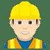 👷🏻♂️ man construction worker: light skin tone Emoji on Joypixels Platform