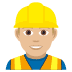 👷🏼♂️ Medium Light Skin Tone Male Construction Worker Emoji on JoyPixels Platform
