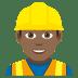 👷🏾♂️ man construction worker: medium-dark skin tone Emoji on Joypixels Platform