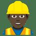 👷🏿♂️ man construction worker: dark skin tone Emoji on Joypixels Platform