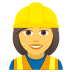 👷‍♀️ woman construction worker Emoji on Joypixels Platform
