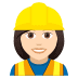 👷🏻‍♀️ woman construction worker: light skin tone Emoji on Joypixels Platform
