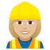 👷🏼♀️ woman construction worker: medium-light skin tone Emoji on Joypixels Platform