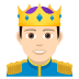 🤴🏻 prince: light skin tone Emoji on Joypixels Platform