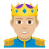 🤴🏼 prince: medium-light skin tone Emoji on Joypixels Platform