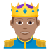 🤴🏽 prince: medium skin tone Emoji on Joypixels Platform