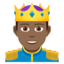 🤴🏾 prince: medium-dark skin tone Emoji on Joypixels Platform