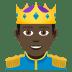 🤴🏿 prince: dark skin tone Emoji on Joypixels Platform