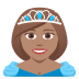 👸🏽 Medium Skin Tone Princess Emoji on JoyPixels Platform