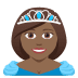 👸🏾 princess: medium-dark skin tone Emoji on Joypixels Platform