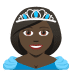 👸🏿 princess: dark skin tone Emoji on Joypixels Platform