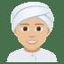 👳🏼 person wearing turban: medium-light skin tone Emoji on Joypixels Platform