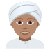 👳🏽 person wearing turban: medium skin tone Emoji on Joypixels Platform