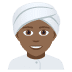 👳🏾 person wearing turban: medium-dark skin tone Emoji on Joypixels Platform