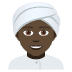 👳🏿 person wearing turban: dark skin tone Emoji on Joypixels Platform