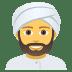 👳♂️ man wearing turban Emoji on Joypixels Platform