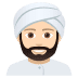 👳🏻‍♂️ man wearing turban: light skin tone Emoji on Joypixels Platform