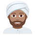 👳🏽‍♂️ man wearing turban: medium skin tone Emoji on Joypixels Platform