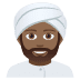 👳🏾‍♂️ Medium Dark Skin Tone Man Wearing Turban Emoji on JoyPixels Platform