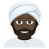 👳🏿‍♂️ man wearing turban: dark skin tone Emoji on Joypixels Platform