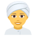 👳‍♀️ woman wearing turban Emoji on Joypixels Platform