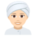 👳🏻‍♀️ woman wearing turban: light skin tone Emoji on Joypixels Platform