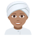 👳🏽‍♀️ woman wearing turban: medium skin tone Emoji on Joypixels Platform