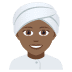 👳🏾♀️ woman wearing turban: medium-dark skin tone Emoji on Joypixels Platform