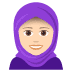 🧕🏻 woman with headscarf: light skin tone Emoji on Joypixels Platform