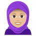 🧕🏼 woman with headscarf: medium-light skin tone Emoji on Joypixels Platform