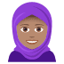 🧕🏽 woman with headscarf: medium skin tone Emoji on Joypixels Platform