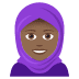 🧕🏾 woman with headscarf: medium-dark skin tone Emoji on Joypixels Platform