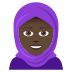 🧕🏿 woman with headscarf: dark skin tone Emoji on Joypixels Platform