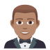 🤵🏽 man in tuxedo: medium skin tone Emoji on Joypixels Platform