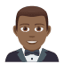 🤵🏾 man in tuxedo: medium-dark skin tone Emoji on Joypixels Platform