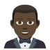 🤵🏿 man in tuxedo: dark skin tone Emoji on Joypixels Platform