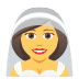 👰 bride with veil Emoji on Joypixels Platform