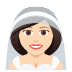 👰🏻 bride with veil: light skin tone Emoji on Joypixels Platform