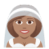 👰🏽 bride with veil: medium skin tone Emoji on Joypixels Platform