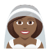 👰🏾 bride with veil: medium-dark skin tone Emoji on Joypixels Platform