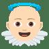 👼🏻 baby angel: light skin tone Emoji on Joypixels Platform