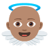 👼🏽 baby angel: medium skin tone Emoji on Joypixels Platform