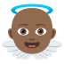 👼🏾 Medium Dark Skin Tone Baby Angel Emoji on JoyPixels Platform