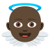 👼🏿 baby angel: dark skin tone Emoji on Joypixels Platform