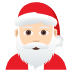 🎅🏻 Santa Claus: light skin tone Emoji on Joypixels Platform