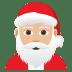 🎅🏼 Santa Claus: medium-light skin tone Emoji on Joypixels Platform