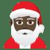 🎅🏿 Dark Skin Tone Santa Claus Emoji on JoyPixels Platform