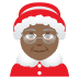 🤶🏾 Mrs. Claus: medium-dark skin tone Emoji on Joypixels Platform